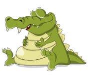 Krokodil van de beeldverhaal de vectorslaap Stock Fotografie