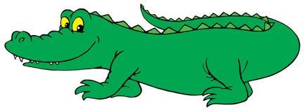 Krokodil (vector klem-kunst) Royalty-vrije Stock Foto