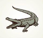 krokodil Vector tekening royalty-vrije illustratie