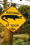 Krokodil-WARNING Stockfotos