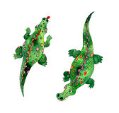 krokodiler Arkivfoto