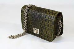 Krokodilhautkupplungs-Tageshandtasche der Frauen Lizenzfreie Stockbilder