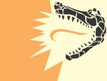 Krokodille Hoofd Stock Foto