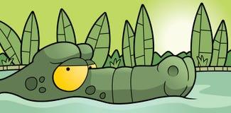 Krokodille Moeras vector illustratie