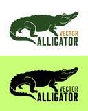 Krokodillesilhouet vectorillustratie royalty-vrije stock afbeelding