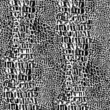 krokodilreptilhud Arkivfoto