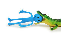 Krokodiltötung smilie Stockfotografie