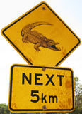krokodilvägmärke Royaltyfri Bild