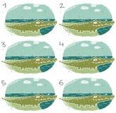 Krokodilvisuellt hjälpmedellek vektor illustrationer