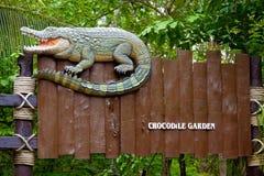 Krokodilzeichen Lizenzfreies Stockbild