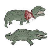 Krokodyl śmierć royalty ilustracja