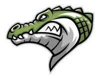 Krokodyl głowy strona ilustracja wektor