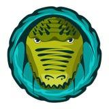 Krokodyl głowa projekta wektoru ilustracja Obraz Stock