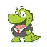 Krokodyl lub aligator jest ubranym kostium Obrazy Royalty Free