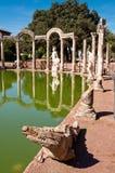 Krokodyl statua przy Canopo w willi Adriana Fotografia Royalty Free