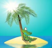 krokodyl wyspa ilustracji