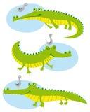 krokodyle śmieszni ilustracji