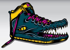Krokodyli buty royalty ilustracja