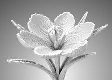 krokus för vit blomma för PIXEL 3D vektor illustrationer
