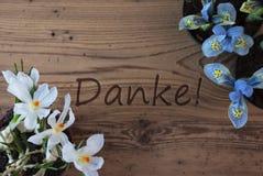 Krokus I hiacynt, Danke sposoby Dziękujemy Was zdjęcia stock