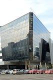 Krokus-Stadt-Hall Crocus Group Moscow The-Gebäude der Glas- und konkreten Reflexion Lizenzfreie Stockfotos