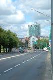 Krolowej Jadwigi街道在波兹南,波兰 图库摄影