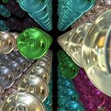 krom för bollar 3d Arkivbilder