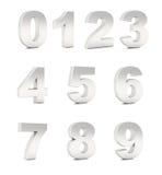 krom numrerar silver Arkivfoton