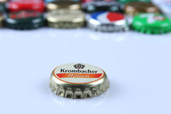 Krombacher bottle cap Royalty Free Stock Image