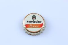 Krombacher butelki nakrętka Zdjęcia Royalty Free