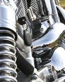 kromcloseupmotorcykel Arkivfoton