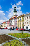 Kromeriz castle (UNESCO) and square in Kromeriz, Moravia, Czech Royalty Free Stock Photo