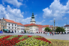 Kromeriz castle (UNESCO) and square in Kromeriz, Moravia, Czech Royalty Free Stock Photography