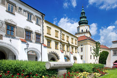 Kromeriz castle (UNESCO) and square in Kromeriz, Moravia, Czech republic Royalty Free Stock Photos