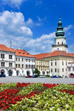 Kromeriz castle (UNESCO) and square in Kromeriz, Moravia, Czech Royalty Free Stock Image