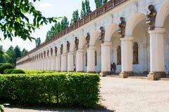 Colonnade in Flower garden in Kromeriz, Czech Republic. UNESCO Stock Photo