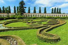Kromeriz - flower garden Stock Photography