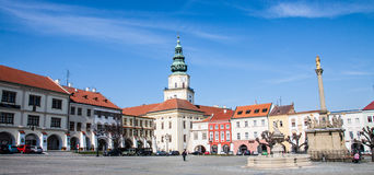 Kromeriz square panorama Royalty Free Stock Images