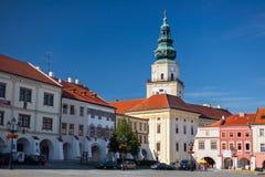 Barock archiepiscopal slott i Kromeriz, tjeckisk republik. Arkivbild