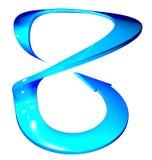 Kromme van de pijl de blauwe cirkel vector illustratie