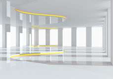 Kromme witte lege ruimte Royalty-vrije Stock Afbeelding