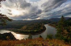 Kromming van de rivier Royalty-vrije Stock Foto's