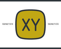 Kromosomsymbol för infographic, website eller app Arkivfoto