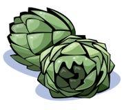 kronärtskockaseriegrönsaker Arkivbild