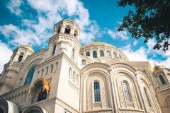Kronštadt Cattedrale navale Fotografie Stock Libere da Diritti