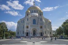 Kronštadt Cattedrale navale di San Nicola fotografie stock