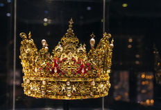 Krona av droppen för konung Christian Royaltyfri Fotografi
