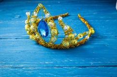 Krona av prinsessan garnering juvel Krona av Elsa kall hjärta royaltyfria foton