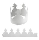 Krona för tomt papper Arkivfoto