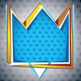 Krona formad grotesk bakgrund stock illustrationer